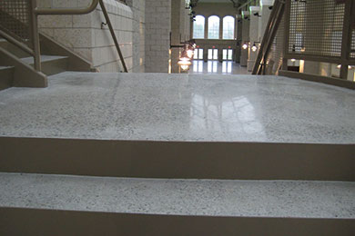 Can repeated exposure to spills damage my polished for Caring for polished concrete floors
