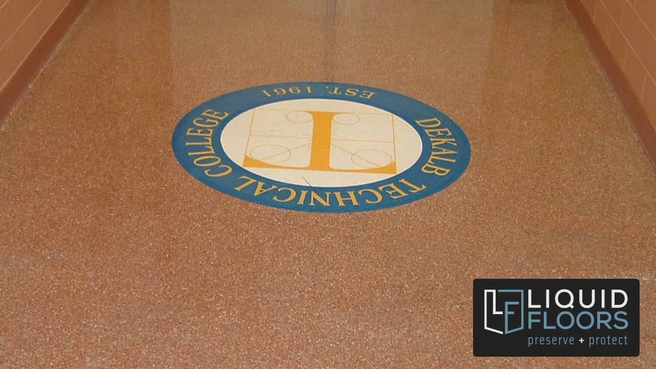 Decorative Quartz Logo Industrial Flooring Case Study
