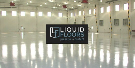 Bank of America Hangar Epoxy Flooring Installation By Liquid Floors Industrial Flooring
