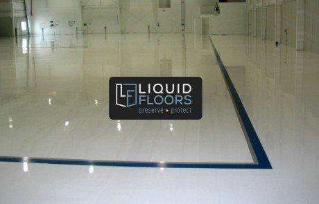 Beautiful Aviation Hangar Epoxy Flooring and Line Striping Installation 1