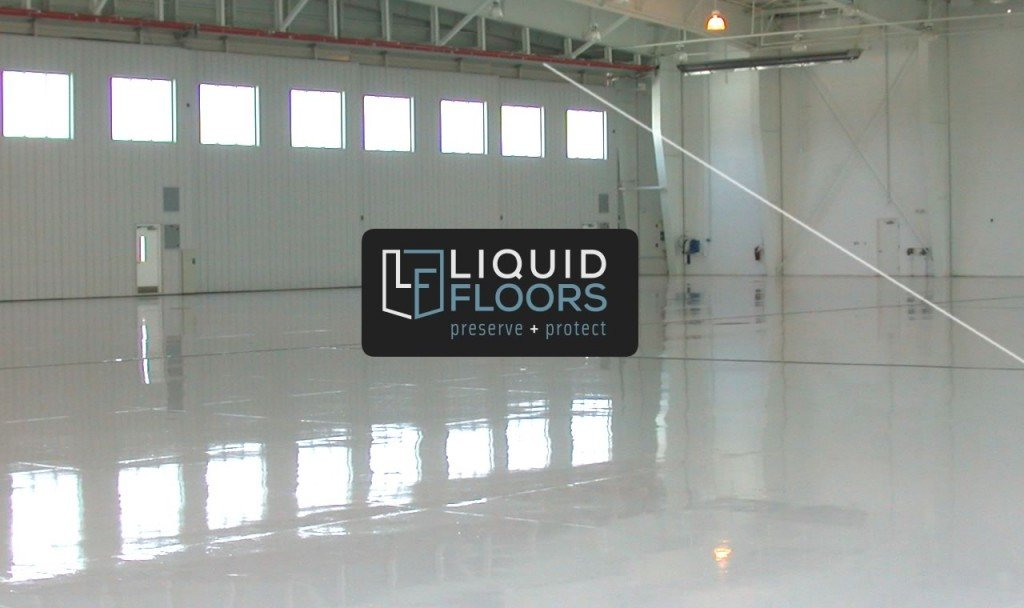 Wachovia Hangar Epoxy Flooring Install Liquid Floors after