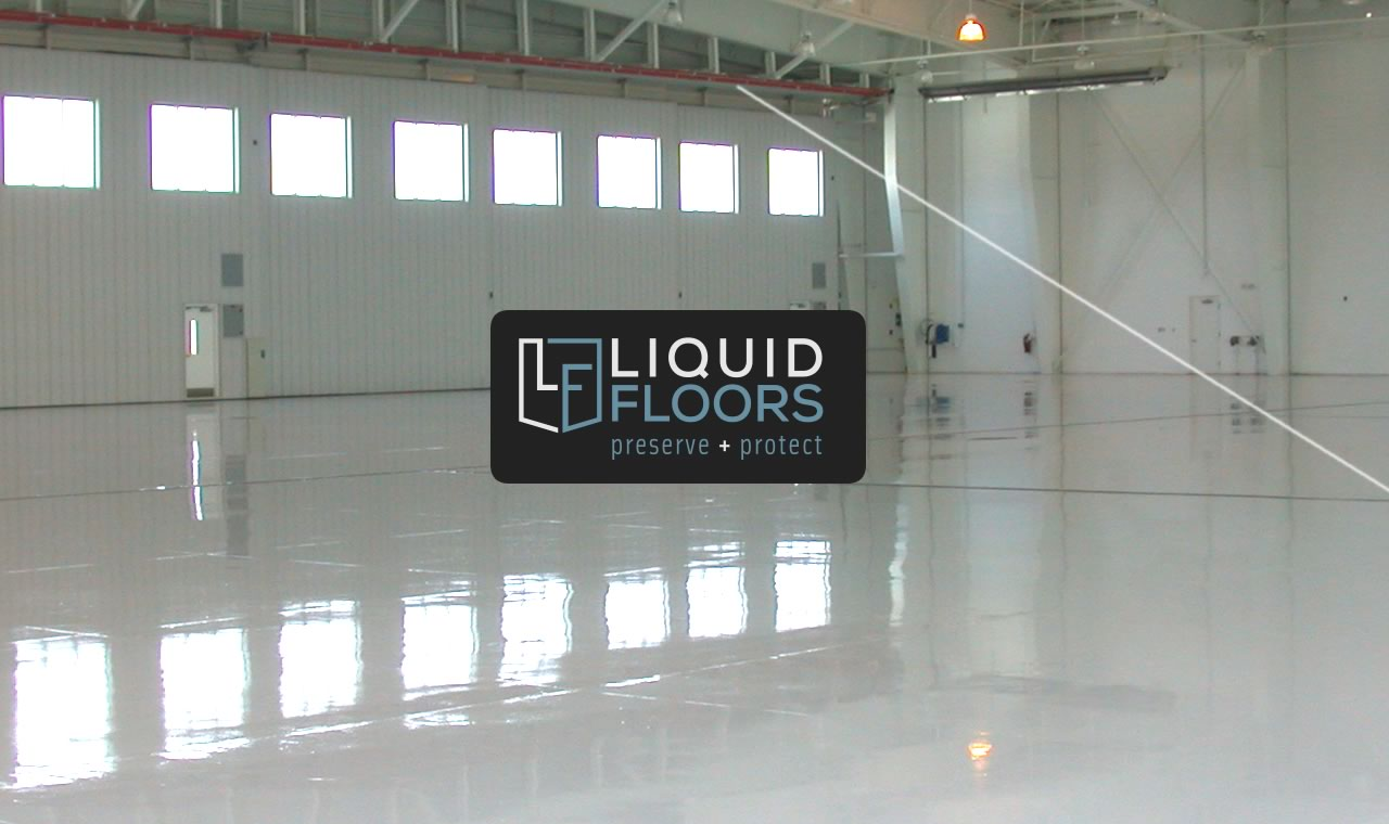 Wachovia Hangar Epoxy Flooring Install Liquid Floors after