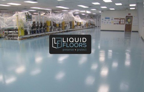 Clean Room Industrial Flooring Installation by Liquid FLoors