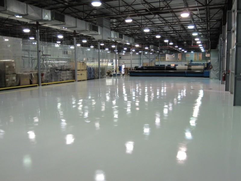 Aviation Manufacturing Epoxy Floor Coating Installation