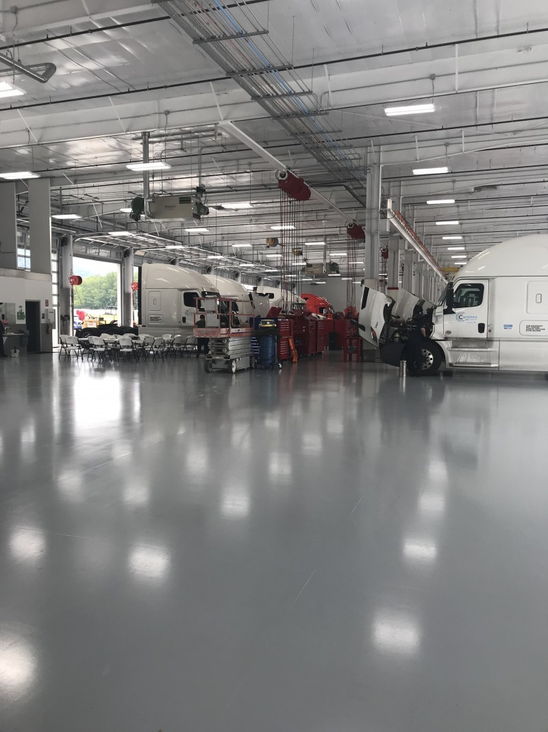 Truck Repair Maintenance Shop Epoxy Floor Coating Case Study